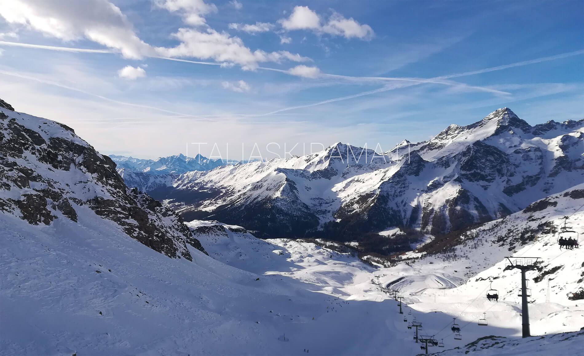 Una sciata sul comprensorio Monterosa Ski